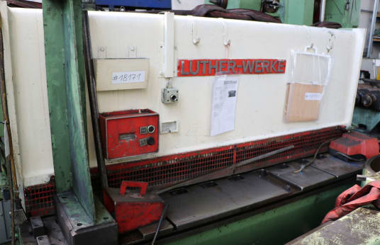 LUTHER TS 2000 x 4 Hydraulic Plate Shear