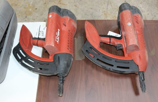 HILTI GX 100 E Lot of 2 Gas Nailers