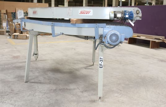 SACOT TRAN ROTAT Lot of 2 Rotating Driven Conveyors