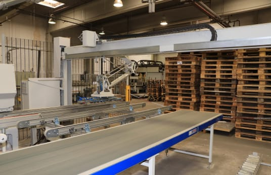 GRUNDNER TRE-1009 Feedback System with Vacuum Traverse and Return Conveyor