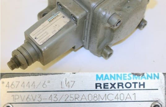 MANNESMANN REXROTH 1PV6V3-43/25RA08MC40A1 Vane Pump