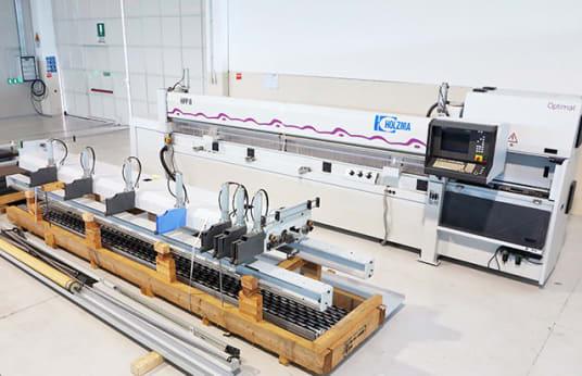 HOLZMA HPP 11/43 Beam Panel Fűrészgép with Front Loading
