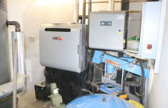 FRÖLING TMC 70-100 Wood chip heating with Feeding, bunker discharge