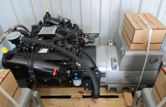 2 X ORIGIN Gas engine 9,1L with LINZ generator PRO 22S B/4,
