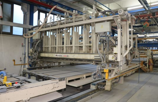 Production line for wooden ceiling parts