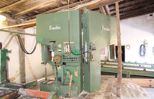 PRIMULTINI Log Band Saw with Loader and Unloader