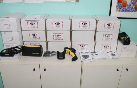 DATALOGIC POWERSCAN M8300 Schnurloser Barcode-Scanner-Kit