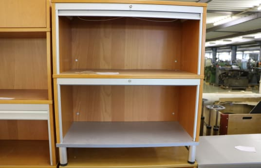 Office Shelf with Roller Shutters 2 Pieces