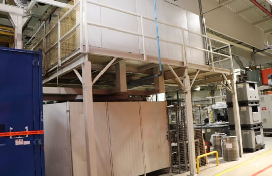 KIEFEL KLS 76/225 DT + KA 110 Vacuum thermoforming and laminating line for interior panelling in vehicle construction