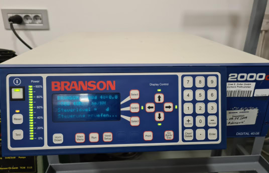 BRANSON 2000 AED Ultrasonic welder