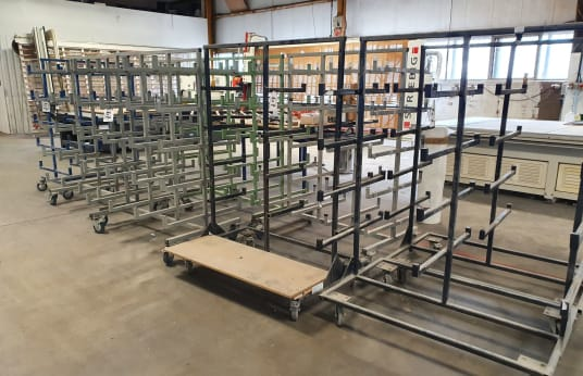 VARIOUS Multi Tier Mobile Stock Racks