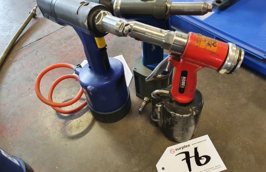 VARIOUS TAURUS 2 3 x Pneumatic Rivet Guns