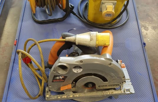 EVOLUTION VARIOUS Circular Saw, Stepdown Transformer & Extension Reel