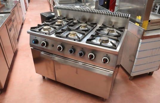 Cocina Industrial de 6 Fuegos STAR 10 C 127 FG