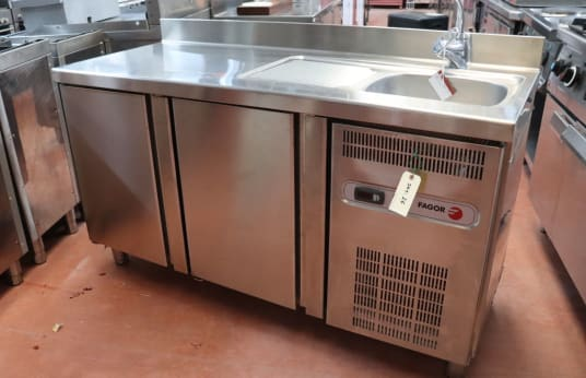 FAGOR Refrigerated Work Table with Sink