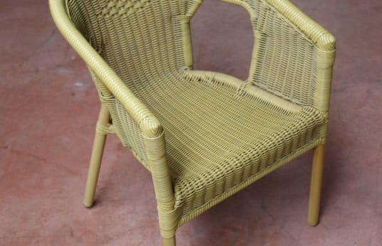 MUEBLES PAREJO Lot of 12 Rattan Chairs