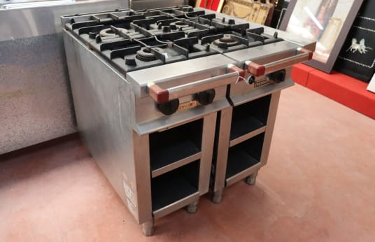 REPAGAS Lot of 2 Two Burner Industrial Stoves