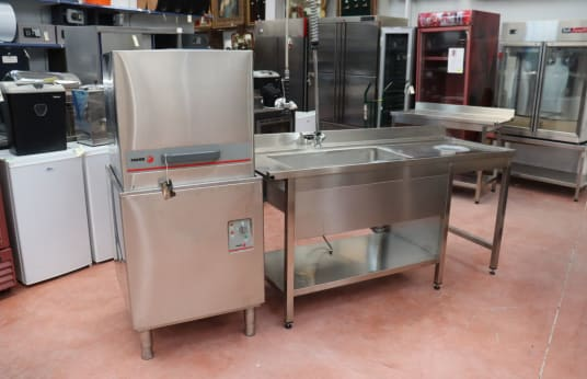 FAGOR FI 80 Industrial Dishwasher with Accessories