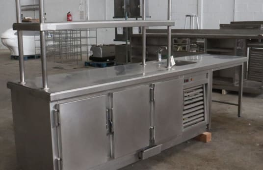 EL CORTE INGLES Refrigerated Work Table with Sink