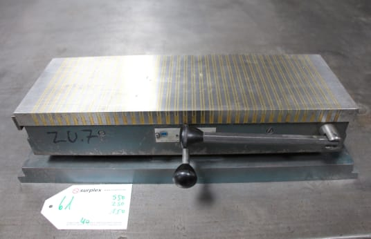 BAKKER MADAVA Handbetätigte Magnetspannplatte