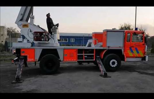ROSENBAUER Special vehicle with platform for fire extinguishing