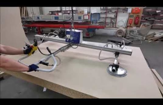 SCHMALZ Column-Mounted Slewing Crane with Vacuum Suction Unit
