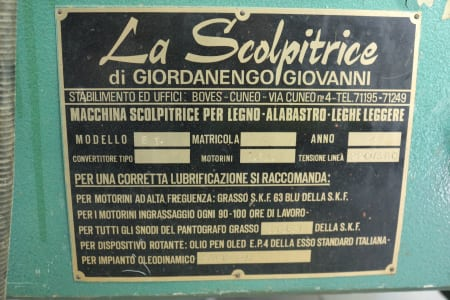 LA SCOLPITRICE 8 T Carving Machine i_02399900