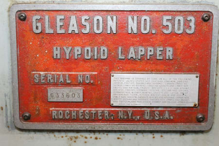 GLEASON 503 Gear Lapper i_02681619