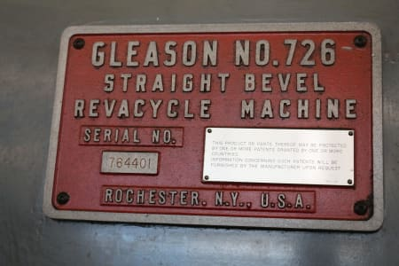 GLEASON 726 Straight Bevel Gear Machine i_02682276