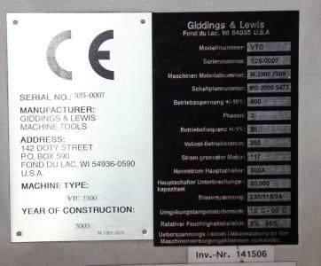 GIDDINGS & LEWIS VTC 2500 CNC-Vertical Lathe / Milling Center i_02755861