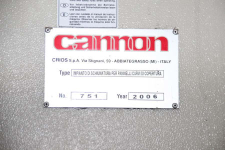 Línea de producción para planchas curvas aisladas CANNON i_02773262