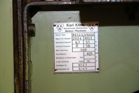 KARL KLINK RISZ 6,3x1000x400 Vertical broaching machine i_03011879