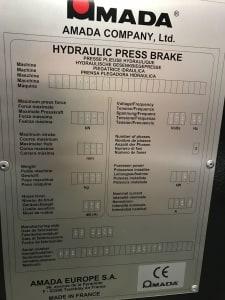 Prasa krawędziowa AMADA HFE100 CNC i_03035876