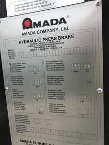 AMADA HFE100 CNC Élhajlító i_03035886