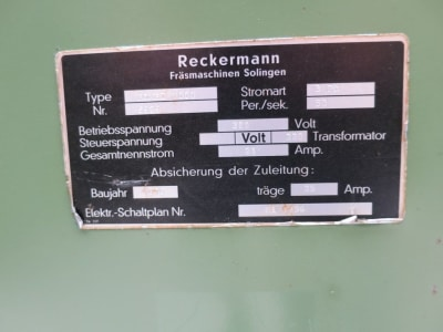 RECKERMANN Kombi 1000 Tool milling machine i_03215370