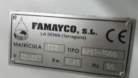 FAMAYCO 2 GS 1000 Brushes Sanding Machine i_03361084