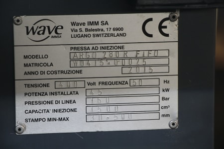 Wtryskarka WAVE ARGO 280 R FIFO i_03403871