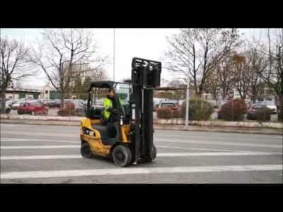 CATERPILLAR GP18N Gas Four Wheel Counterbalanced Forklift v_03504280